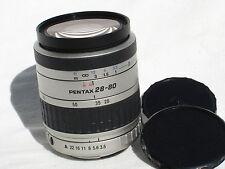 ONE SMC PENTAX - FA 28-80 mm F 3.5-5.6 AF zoom lens  Silver color