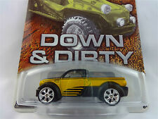 100%  HOT WHEELS DODGE M80 TRUCK YELLOW/BLACK 1/20,000 REAL RIDERS