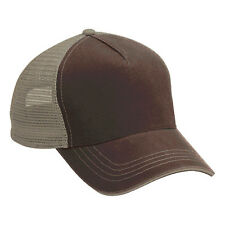 Wholesale 12 Blank Trucker Hats Brown/Khaki Cotton /Mesh Embroider/Screen 5Panel