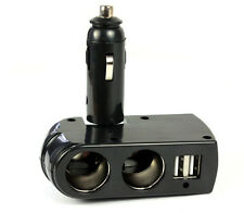 12V DC Car Charger Cigarette Lighter Double Power Adapter Socket Splitter 2 USB