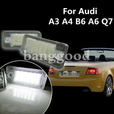 2x For Audi A3 A4 B6 A6 Q7 White LED License Number Plate Light NO Canbus Error