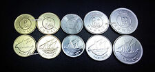 KUWAIT UNC SET OF 5 COINS 5 10 20 50 100 FILS 2011-2013