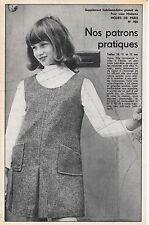Ancien PATRON couture MODES DE PARIS n° 982/ROBE-CHASUBLE 10-11-12 ans/Vintage