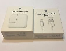New OEM Apple 12W USB Power Adapter + 2M Lightning Cable iPad/iPhone