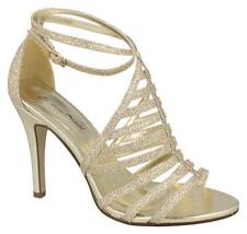 F10476- Ladies Anne Michelle Heeled Sandals-- 3 Colours- Great Price!