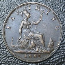 1885 GREAT BRITAIN - FARTHING - Victoria - Nice DETAILS