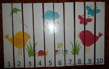Spring themed 1-10 Number Sequence Puzzle and Game Board.  Laminated learning ga