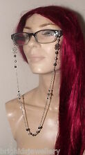 Pagan Eye Glass Chain Hematite Pentagrams Magical Pagan Wiccan - Made to Order
