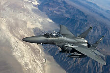 "24"" x 36"" Poster F15 Fighter Jet Military Airplane Eagle Plane"