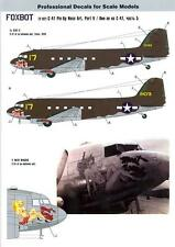 Foxbot Decals 1/72 DOUGLAS C-47 PIN-UP NOSE ART Slut II & Meat Waggin