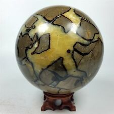 "4.80"" 2894g SEPTARIAN DRAGON STONE SPHERE Ball w/ Stand Madagascar A584"
