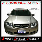 HEADLIGHTS FOR VE COMMODORE SERIES 1 CHROME WITH LED DRL DAYTIME RUNNING LIGHTS