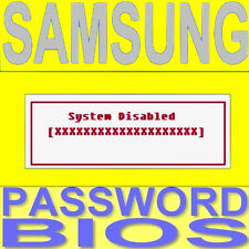 Samsung Sistema password admin password RIMUOVI ELIMINA BIOS Secure LOCK UNLOCK
