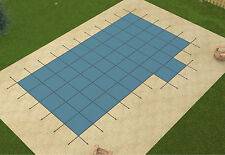 20'x40' ULTRA LITE SOLID Rectangle Swimming Pool Safety Cover w/4'x8' Right Step