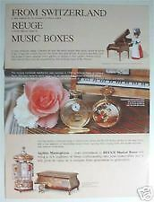 Vintage REUGE Music Box Pocket Watch Katalog Pamphlet