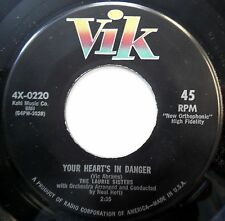 LAURIE SISTERS 45 Your Heart's In Danger NEAR MINT Exotica NEAL HEFTI 1958 w1234