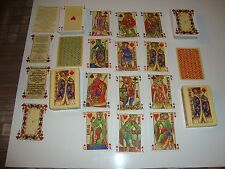Lot de 2 jeux de 54 carte de LA PUCELLLE : Dos bleu et dos rouge : reproduction.
