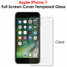 Full Screen Coverage Gorilla Tempered Glass Protector For Apple iPhone 7 -CLEAR
