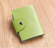 HOT Womens/Mens Wallet Holder Pocket Business ID Card Credit Bag Case Green 7#