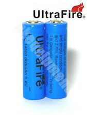 Ultrafire 14500 AA Li-ion 3.6v Rechargeable Battery x2