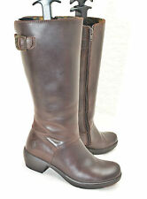 "FLY LONDON ""MYLA MYLY"" BROWN LEATHER BOOTS 143187002 SZ 3.5 UK 36 EUR EXCELLENT"