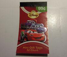 Disney Cars Christmas Mini Gift Tag Stickers 32 ct