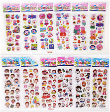 12pcs /lot Childrens 3D Children Classic Animation Stereoscopic Stickers gift