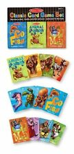 Melissa and Doug Deluxe Animal Card Games , New, Free Shipping