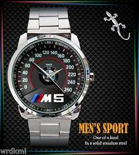 NEW BMW M5 LOGO M POWER Stainless Steel Analogue Men's Watch
