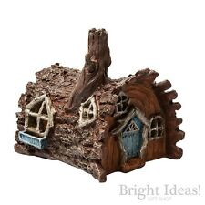 Fiddlehead Fairy Garden - FAIRY HOME - Log House With Opening Door