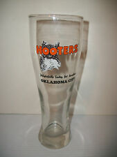 "HOOTERS OKLAHOMA CITY 9.25"" TALL KITCHEN / BAR BEER GLASS  ""O's"" ARE OWL EYES"