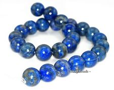 16MM AZURA LAPIS LAZULI GEMSTONE BLUE ROUND 16MM LOOSE BEADS 16""