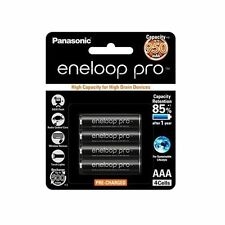 4x Panasonic Eneloop Pro 900mAh AAA High Capacity Rechargeable Batteries New MP