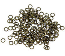 1500 Bronze Tone Open Jump Rings Findings 4mm