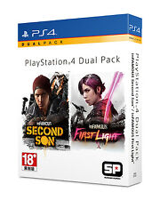 inFAMOUS Second Son, First Light, Disc, Dual Pack, PlayStation 4, 2016, NEW