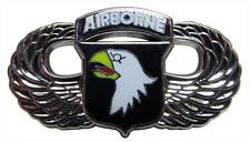 """US Army 101st Airborne Screaming Eagles Wings Paratrooper 1-1/4"""" Lapel Hat Pin"""