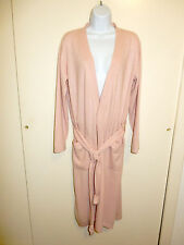 MAGASCHONI? 100% CASHMERE LIGHT PINK OPEN FRONT 2 POCKETS LONG ROBE SWEATER M/L