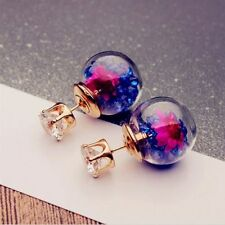 Sided Personalized Good Quality Pieces Ball Double-sided Earrings Female