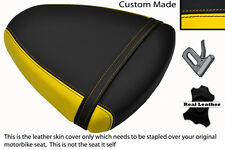 YELLOW & BLACK CUSTOM FITS SUZUKI TL 1000 R 98-02 REAR LEATHER SEAT COVER