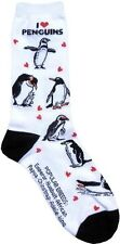 I love Penguins (6606) Women Size Socks Cotton New Gift Fun Unique Fashion