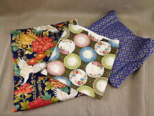 Job Lot Fabric Remnants Japanese Kimono Printed Cotton Dressmaking Oriental