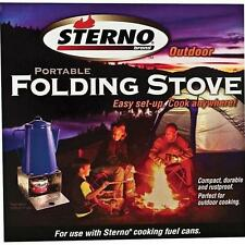 Sterno Outdoor Portable Folding Stove - Easy Set-Up, Cook Anywhere, Rustproof