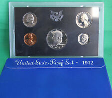 1972 US Mint Proof Set in Original Blue Box ~ Nice FLASHY Coins~RELIABLE SELLER!
