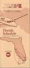 PBA Provincetown Boston Airlines Southern system timetable 10/22/81 [4104]
