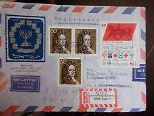 R-Brief Celle 4.6.1980 nach Israel  MEF + MIF