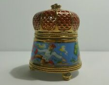 FRANKLIN MINT FABERGE THE FIREBIRD PORCELAIN OF IMPERIAL RUSSIAN  MUSIC BOX