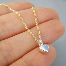 U&C Sundance 925 Sterling Silver Tiny Valentine Heart Gold Filled Chain Necklace