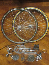 VINTAGE ORIGINAL SHIMANO DURA ACE 7402 8 SPEED GROUP GRUPPO BUILD KIT ISO WHEELS
