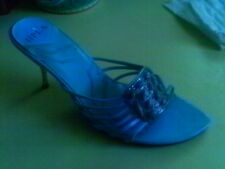 BLUE TURQUOISE GEMSTONE SLIDES MULE SEXY STRAPPY 7 M