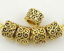 Wholesale 50 Lots Antique gold Plated Beads Fit European Bracelet J005